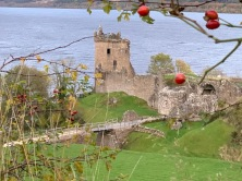 Castle Urquhart at the edge of Loch Ness